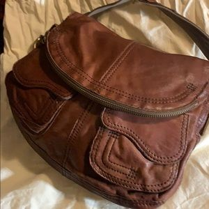 "LUCKY BRAND LEATHER HANDBAG 13"" x 9"" x 3"""